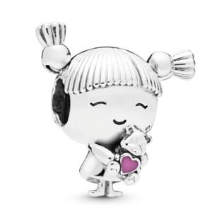 New Pandora Girl With Pigtail Charm